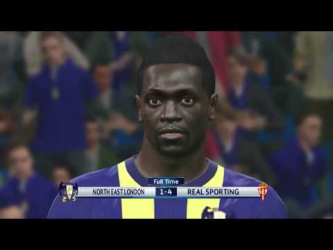 PC HD Gameplay PES 2016 Legend UEFA CHAMPIONS - North East London vs Real Sporting (away)