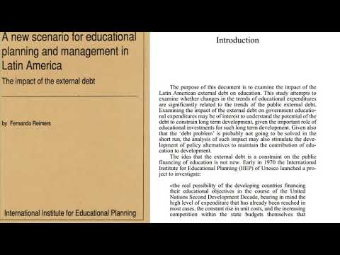 A new scenario for educational planning and management in latin america