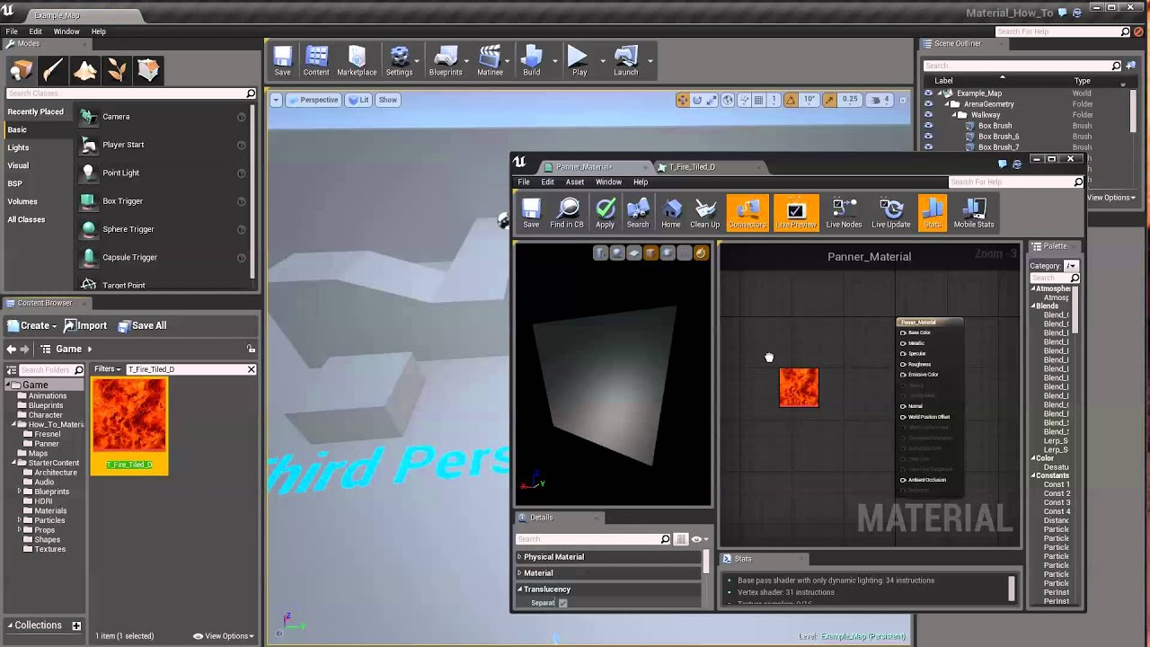 Animating UV Coordinates | Unreal Engine Documentation