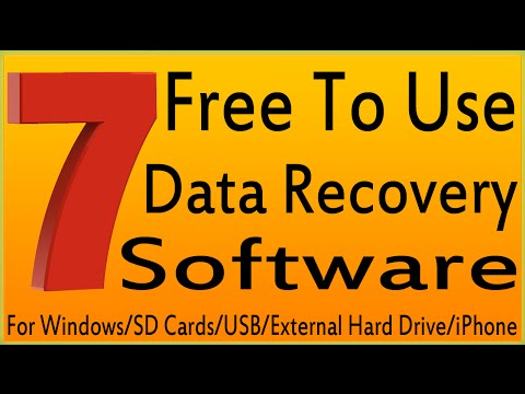 7 Best Free Data Recovery Software For Windows/SD Cards/USB/External Hard Drive/iPhone