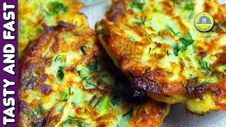 ZUCCHINI RECIPES. HOW TO MAKE ZUCCHINI PATTIES. Zucchini Pancake Recipe