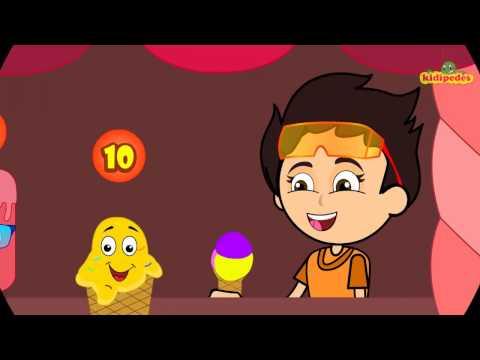 YUMMY Ten Little Ice Creams I Icecream Song For Children I Kindergarten Nursery Number Rhymes Songs