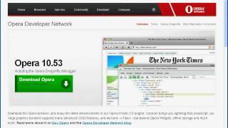 Работа с вкладками браузера Opera 10.5 (6/9)
