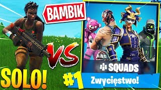 ⚡ MOJA *PIERWSZA WYGRANA* SOLO VS SQUADY!? | Fortnite - Battle Royale