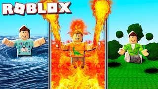 FIRE, WATER & EARTH BENDING POWERS IN ROBLOX!