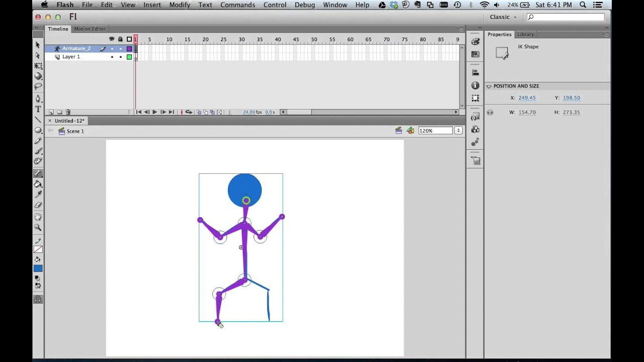 How To Animate A Stick Figure Using Adobe Flash Cs6 And Bone Tool