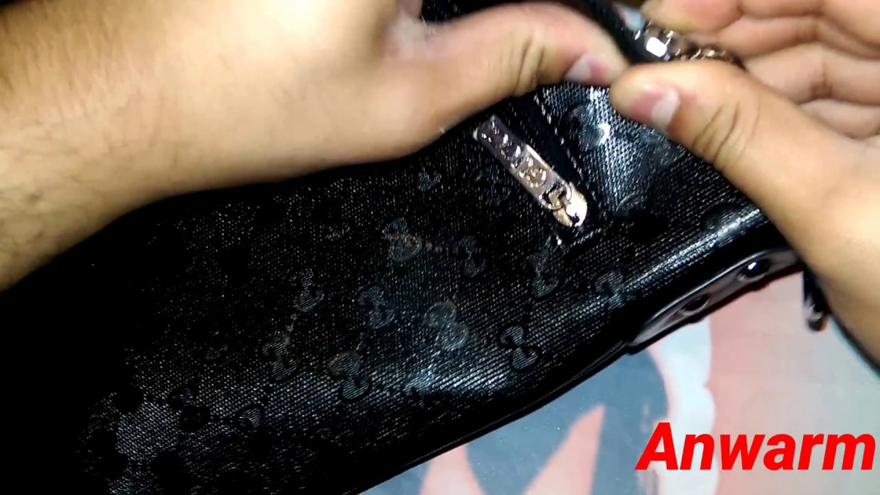 a407bd6717c How to Spot Fake Gucci Mens Shoulder Bag - YouTube