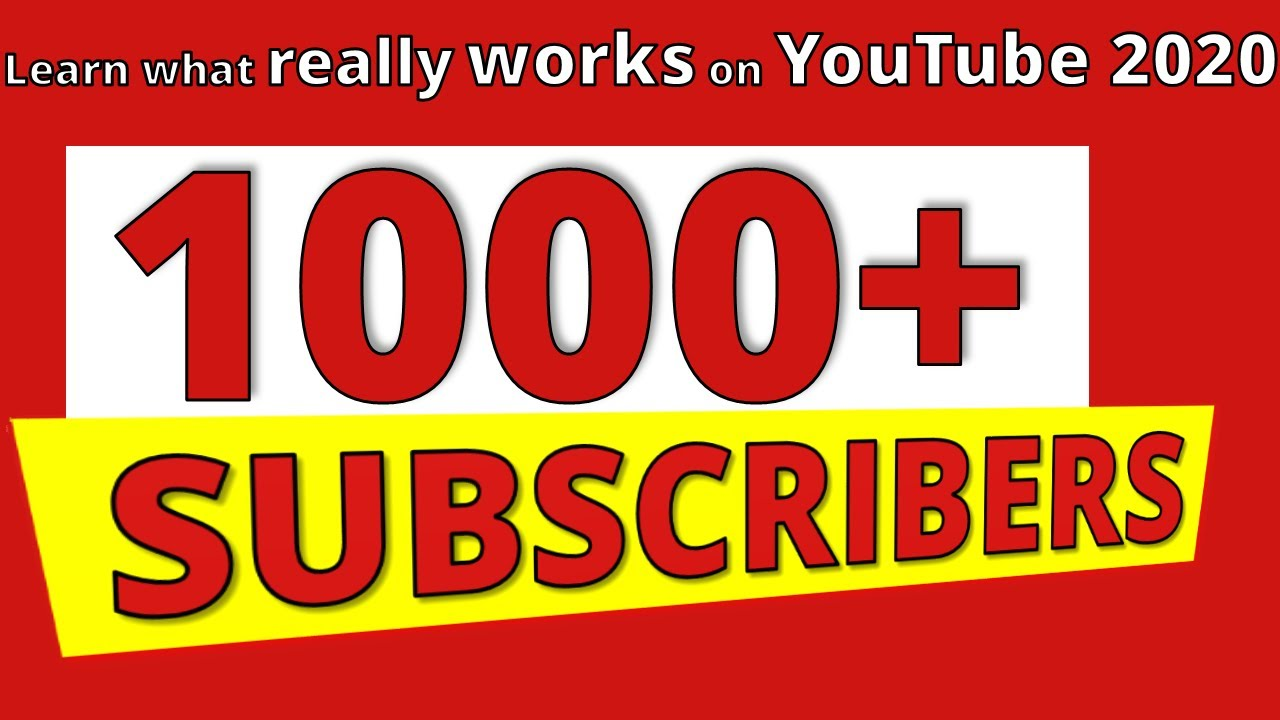 How to Get 1000 SUBSCRIBERS on YouTube FREE 💥