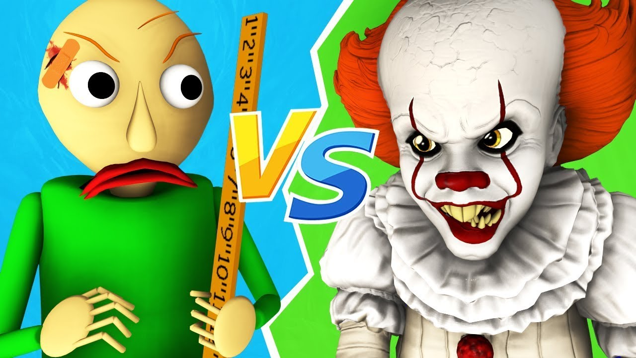 Baldi vs Pennywise - La Película (Español Recopilación de Todos Los Episodios Parodia Animada 3D)