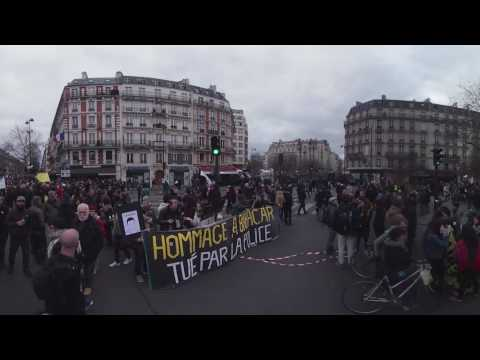 March against police brutality in Paris, France (in 360)