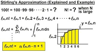 Physics 32.5 Statistical Thermodynamics (7 Of 39) Stirling's Approximation Explained