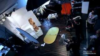 Вера Брежнева в эротической фотосессии для журнала Maxim, январь 2014