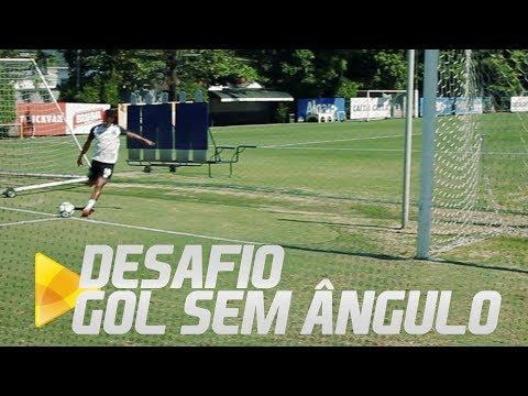Desafio do Gol sem ângulo com Rodrygo, Gabriel e Arthur Gomes