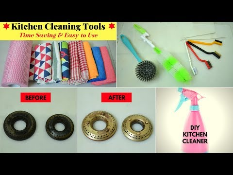 kitchen-cleaning-tools-and-their-uses-|-amazing-kitchen-cleaning-tips-/-hacks-|-urban-rasoi