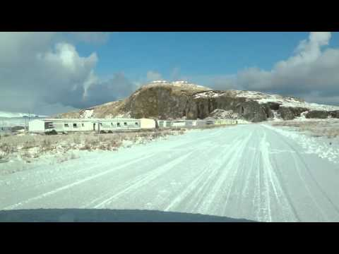 Driving through Sandy Cove (Adak, AK)