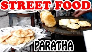 FRESH FRIED PARATHA - INDIAN Street Food - Vendors Selling Fresh Fried Paratha on the Street Video