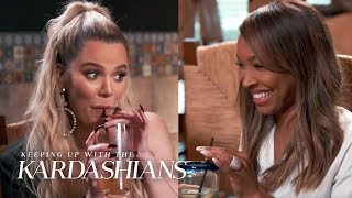 """The """"KUWTK"""" star dines with Scott Disick & her BFF in order to officially invite Malika to Ohio to visit True & Tristan Thompson for the winter! #KUWTK ..."""