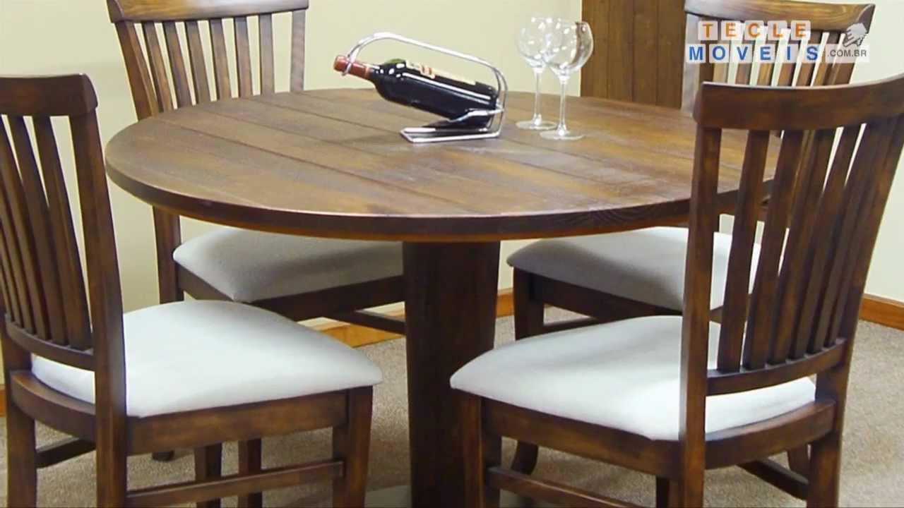 Sala De Jantar Redonda ~ Sala de Jantar CANELA com mesa redonda e cadeira ESPANHA  YouTube