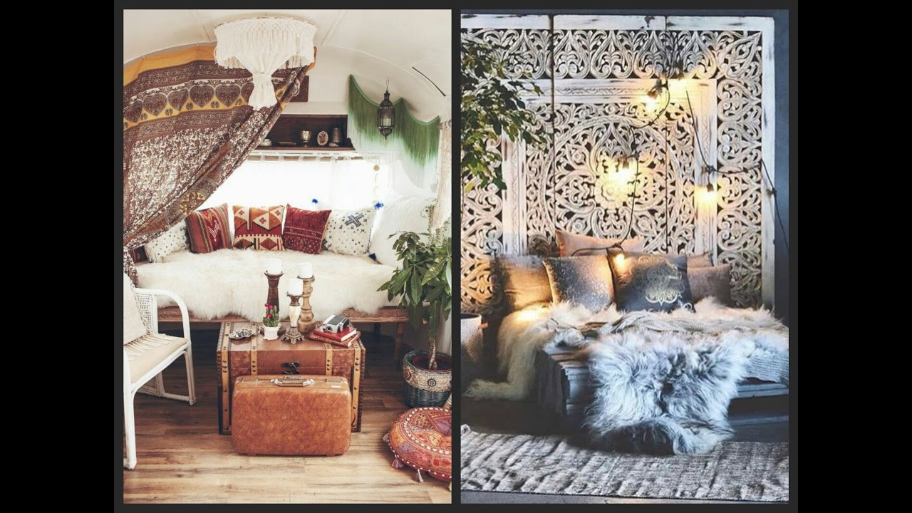 Bohemian Home Decor Ideas - Boho Chic Interior Inspiration - YouTube