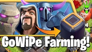 GOWIPE GETS DARK ELIXIR! - Triple Threat Even Completion! - Clash of Clans - Let;s Play TH9 Ep. 15