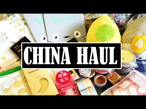 Huge China Haul! Skin care, Stationery, and more!