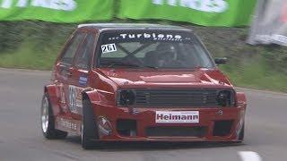 Insane VW Golf II Turbo, 430 HP, 500 NM, 4x4, full Onboard, Simon Wüthrich at Turbiene Motorsport