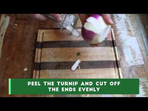 How To Spiralize Turnip