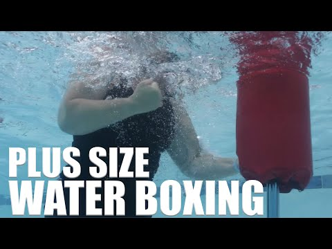 Plus Size Water Boxing with Acquapole - aqua workout