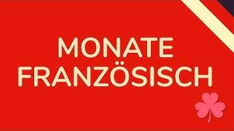 MONATE FRANZÖSISCH (animiert) 🇩🇪
