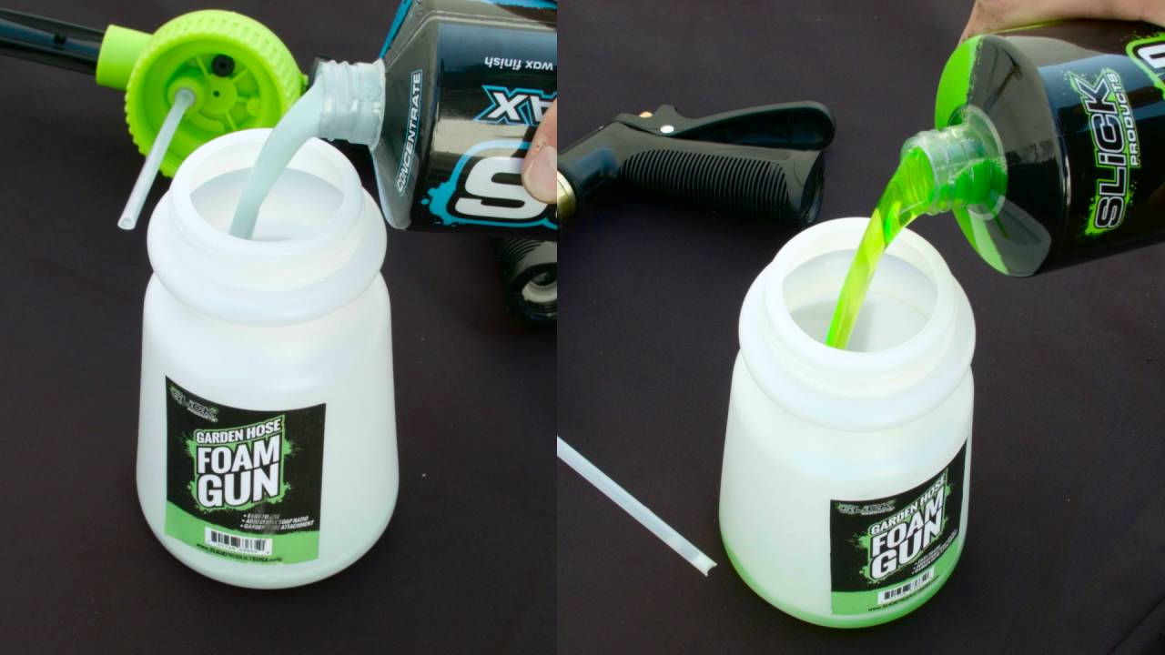 Garden Hose Foam Sprayer Slick Products Youtube