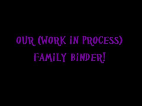 Our Family Binder {VEDA Day 5}