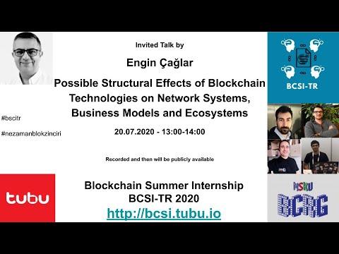 BCSI-TR 2020 – Invited Speaker: Engin Çağlar-(Crypto Valley Association)  Blockzinciri Teknolojileri