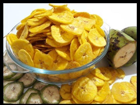 Yellow Banana Chips | Banana Wefers | How To Make Banana Chips | कुरकुरे केले के चिप्स