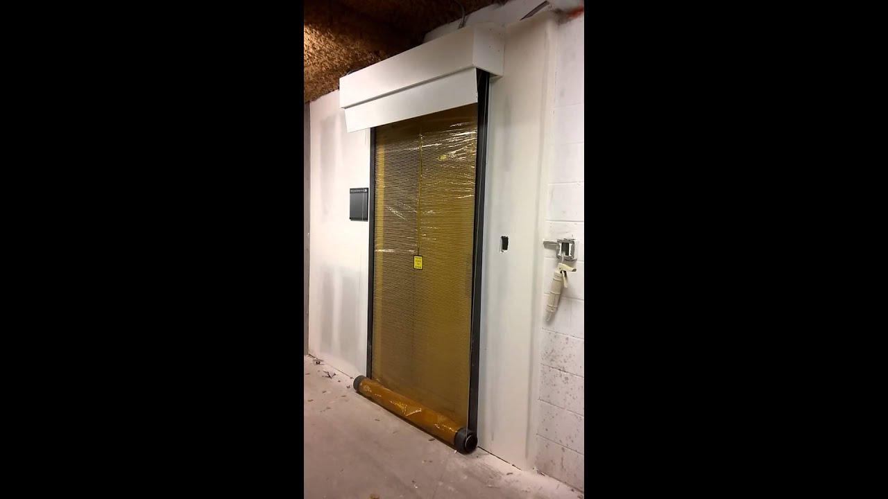 Elevator Smoke Curtain Test