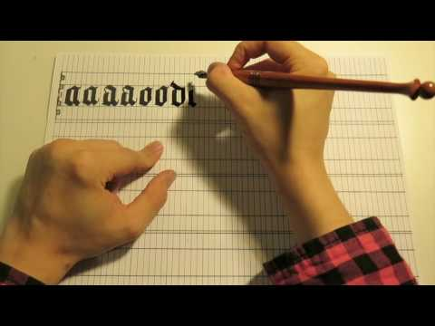 Beginner Blackletter: Introduction and Closed Letters