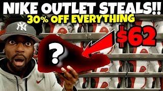 OG Jordans For Only $62 😲!! Nike Outlet STEALS & DEALS!!! 30% OFF EVERYTHING!!