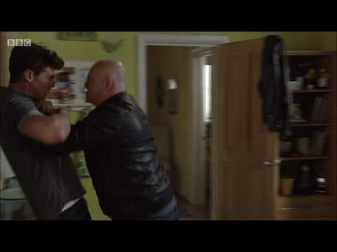 Grant Mitchell Pins Mark Fowler Jr (EastEnders - 05/09/2016)