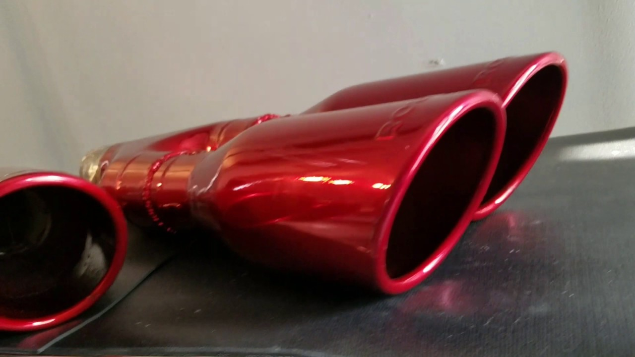 kandy red powder coated exhaust tips