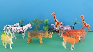 Farm animal toys collection & zoo animals for children with sound effects