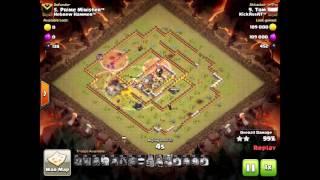 Clanwar KickAssAt™ vs Hebrew Hammer™ - 3 Star Attacks - Clash of Clans