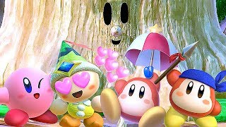 Kirby Star Allies All Characters VS Whispy Woods (Kirby & Friends)