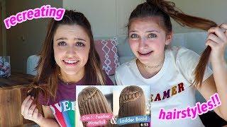 Recreating Iconic Cute Girls Hairstyles!! Ft. Kamri Noel!