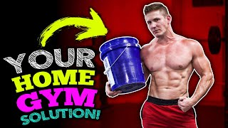 """BUILD REAL MUSCLE AT HOME! (MAKE """"BUCKETS"""" OF GAINS! - UPPER / LOWER SPLIT)"""