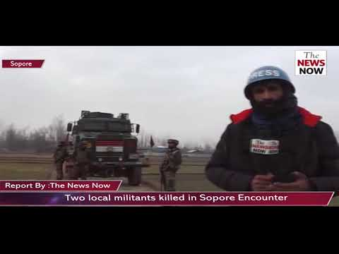 Two local militants killed in Sopore Encounter