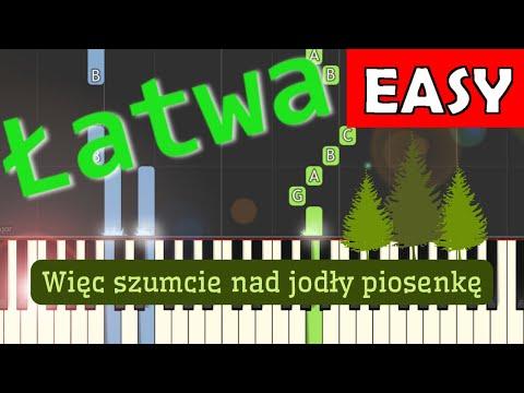 🎹 Więc szumcie nam jodły piosenkę - Piano Tutorial (łatwa wersja) 🎹
