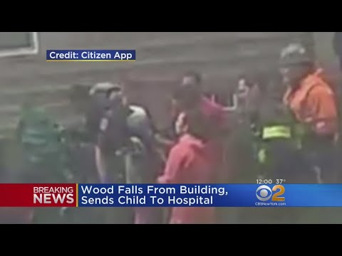 Girl Struck On Head By Falling Piece Of Wood