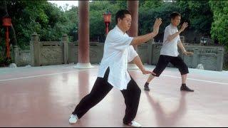 Ушу, китайская гимнастика для здоровья  в городском парке Гуанчжоу