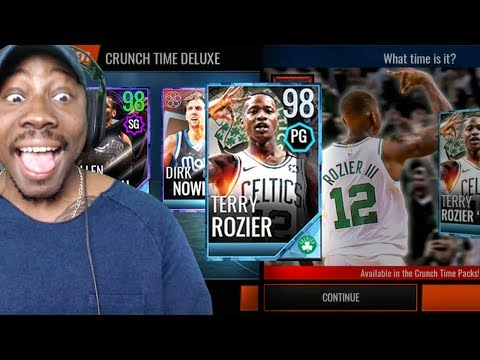NEW CRUNCH TIME PACK OPENING w/98 OVR TERRY ROZIER! NBA Live Mobile 18 Gameplay Ep. 49