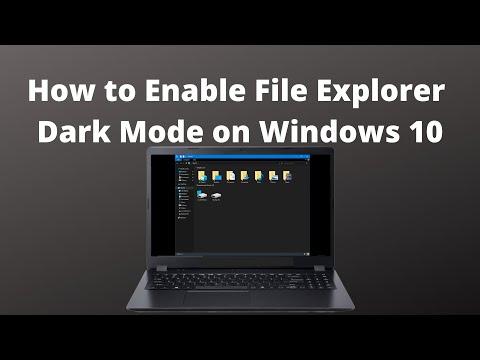 How To Enable File Explorer Dark Mode On Windows 10