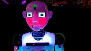 Выставка роботов: робот танцор, говорящий робот, робот паук, терминатор и другие